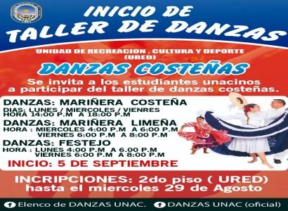 INICIO DE TALLER DE DANZAS COSTEÑAS